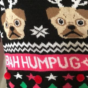 BAH HUMPUG long sleeve pug holiday sweater…